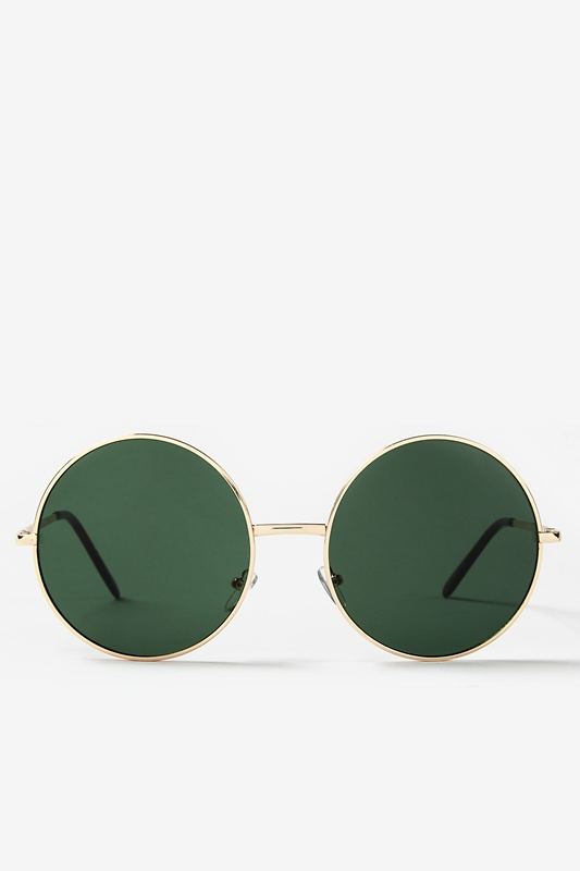 Penny Gold Green Sunglasses by Scarves.com