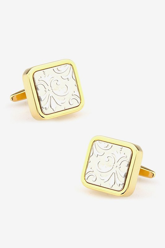 3D Floral Gold Cufflinks Photo (0)