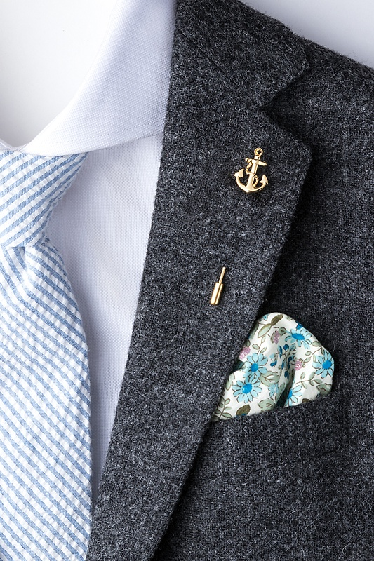 Anchor With Rope Lapel Pin