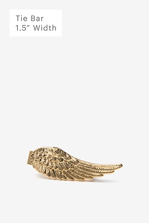 Angel Wing Gold Tie Bar