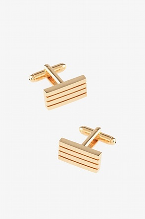 Barred Up Gold Cufflinks