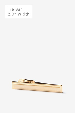 _Beveled Rectangle Gold Tie Bar_