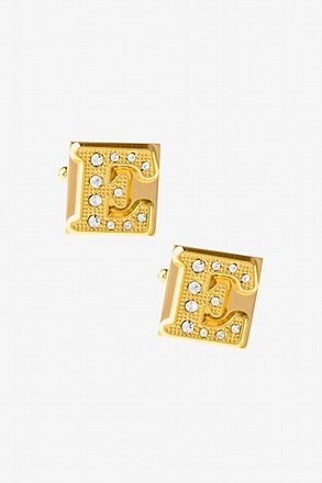 Blinged Out E Cufflinks