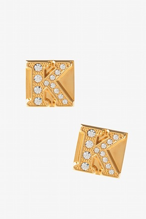 Blinged Out K Cufflinks