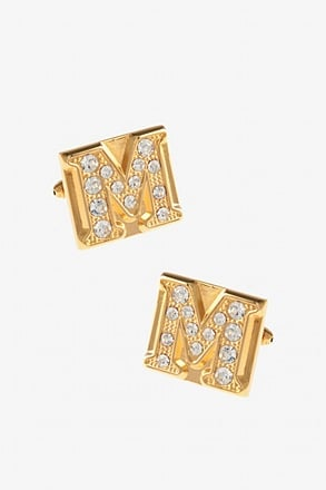 Blinged Out M Cufflinks