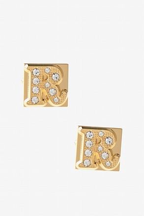 Blinged Out R Cufflinks