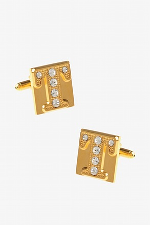Blinged Out T Cufflinks