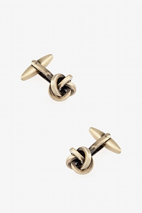 Brushed Knot Cufflinks