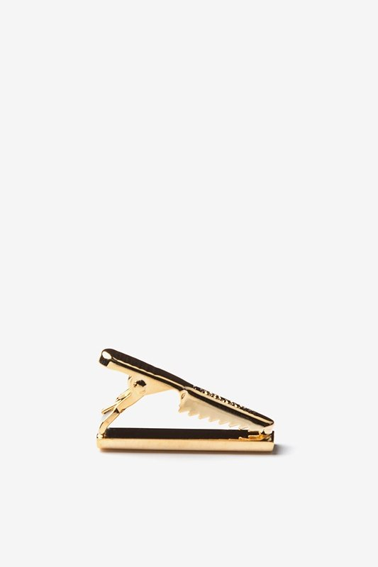 Chrome Curved Gold Tie Bar Photo (1)