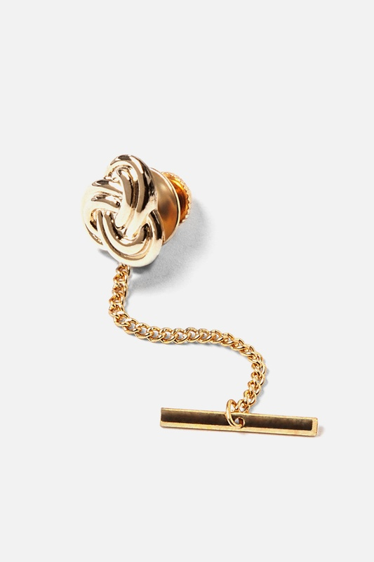 Closed Love Knot Tie Tack