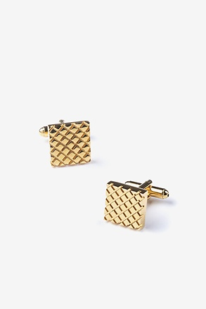 Criss-Cross Square Cufflinks