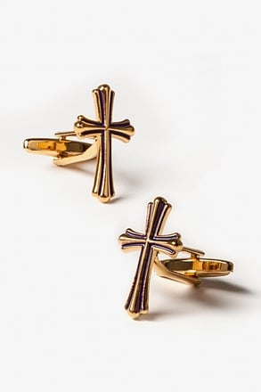 _Cross Gold Cufflinks_