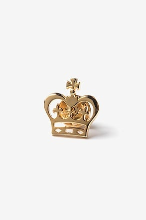 _Crown Gold Lapel Pin_