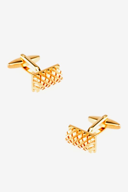 Elevated Criss-Cross Rectangle Cufflinks
