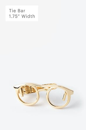 Eyeglasses Gold Tie Bar
