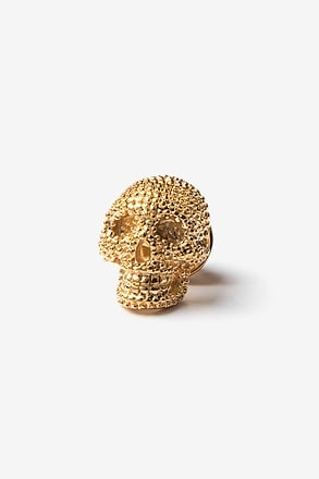 _Fancy Skull Gold Lapel Pin_