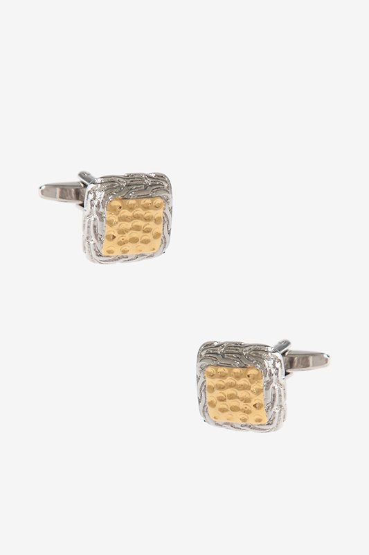 Flashy Two Toned Square Cufflinks