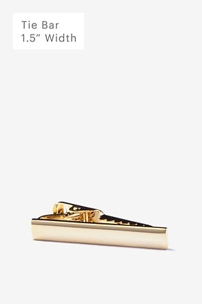 Frosted Curve Gold Tie Bar