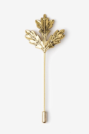 Gold Leaf Lapel Pin