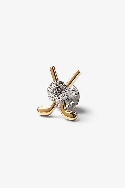 Golf Ball & Club Lapel Pin
