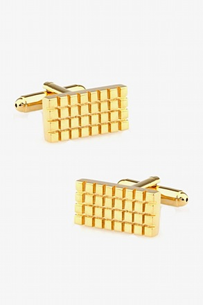 _Gridlock Gold Cufflinks_