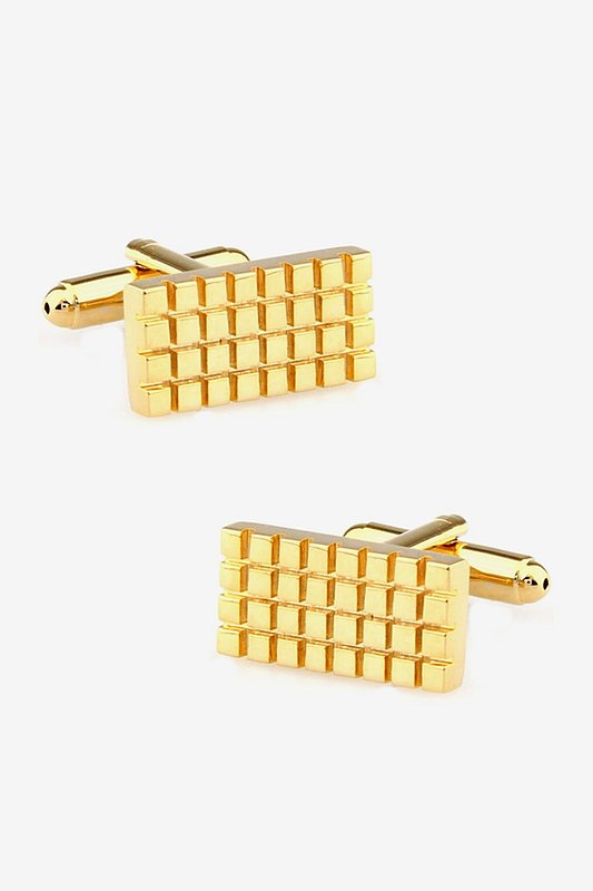 Gridlock Gold Cufflinks Photo (0)