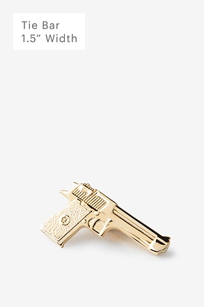 Handgun Gold Tie Bar