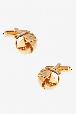Intricate Knot Gold Cufflinks