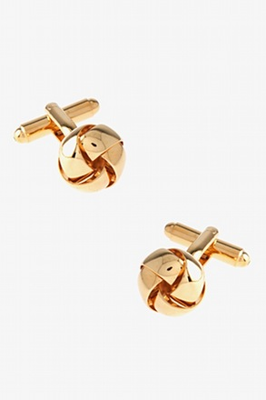 _Intricate Knot Gold Cufflinks_