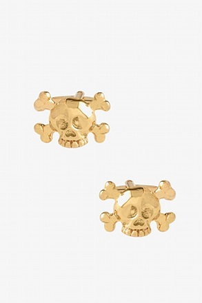 _Large Skull N Crossbones Cufflinks_