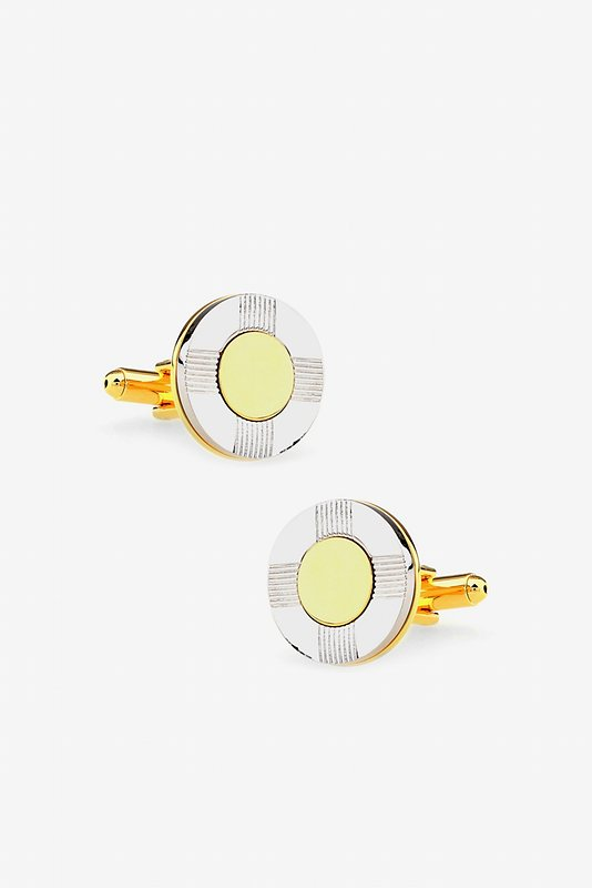 Lifesaver Round Cufflinks