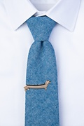 Long Weiner Dog Gold Tie Bar Photo (2)