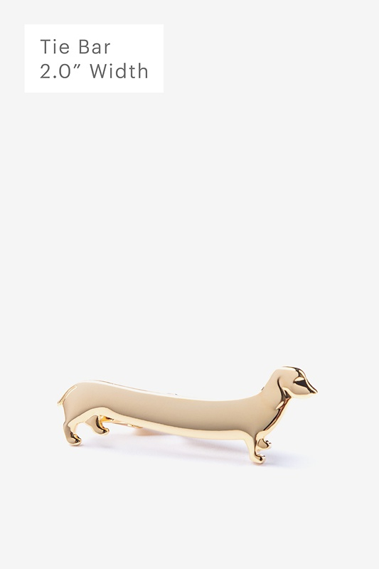 Long Weiner Dog Gold Tie Bar Photo (0)
