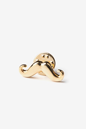 _Mustache Gold Lapel Pin_
