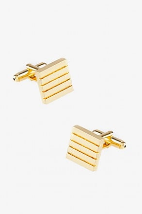 _Parallel Line Square Cufflinks_