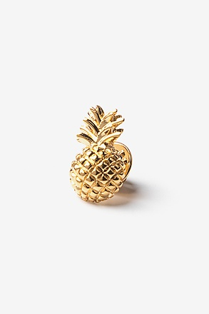 _Pineapple Gold Lapel Pin_