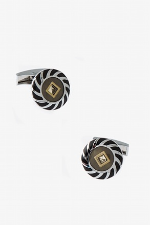 Rhinestone Wheel Cufflinks