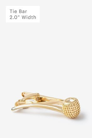 Smoke Pipe Gold Tie Bar