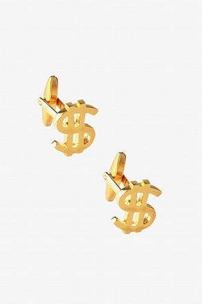 Solid Dollar Sign Cufflinks
