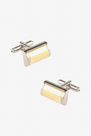 _Solid Rectangular Dome Cufflinks_