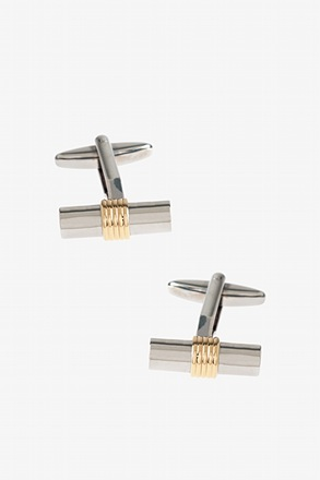 _Solid Scroll Cufflinks_