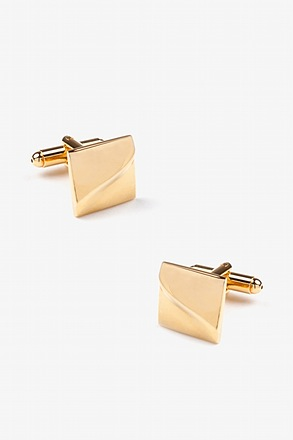_Solid Slanted Square Cufflinks_