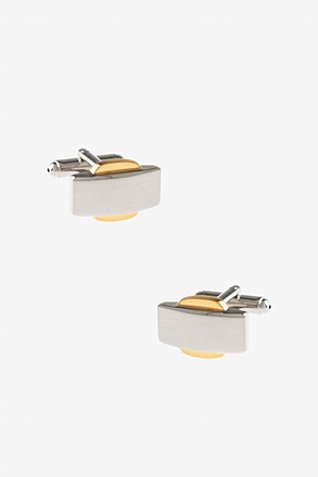 Solid Two Tone Cufflinks
