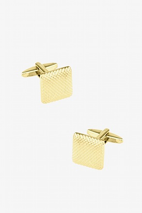 _Textural Gradient Gold Cufflinks_