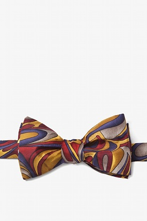 Fluid Paints Gold Self-Tie Bow Tie