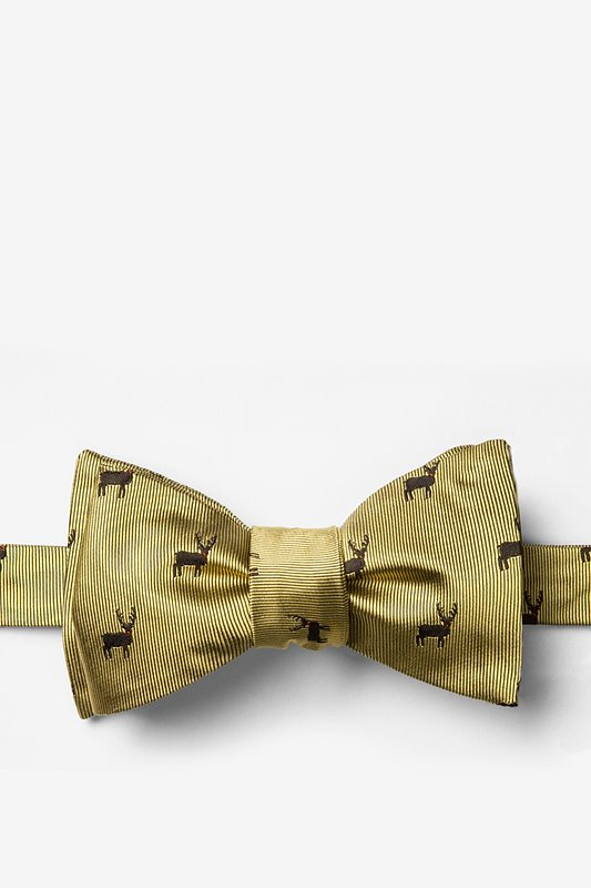 """Noses Are Red,Violets Are Blue"" Self-Tie Bow Tie"