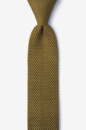 Classic Solid Knit Skinny Tie