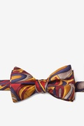 Gold Silk Fluid Paints Butterfly Bow Tie