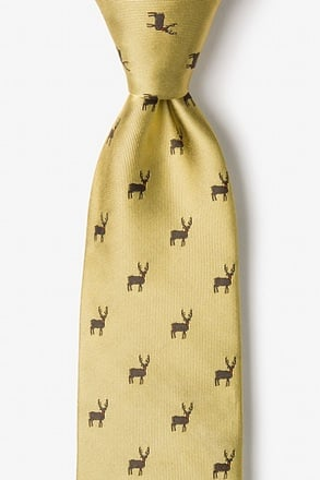 Noses Are Red, Violets Are Blue Gold Tie