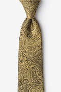 Gold Silk Siple Extra Long Tie